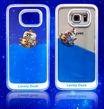 Liquid Dynamic Glitter Quicksand Mobile Phone Case Back Cover For Samsung Galaxy S6 Edge