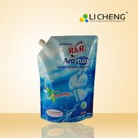 High quality and custom print laundry detergent bag/spout bag/spout pouch bag