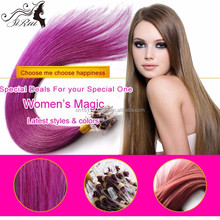 Micro ring virgin hair straight hair extension, wholesale fish wire malaysian virgin hair