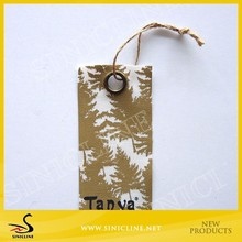 Sinicline Black Attach Hang Tag With Metal Eyelet