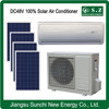 Off grid DC48V wall split American using solar powered central air conditioning system