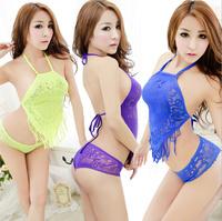 Free shipping halter neck tie wholesale transparent japanese cute girl lingerie for female