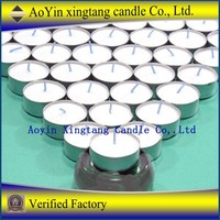 Paraffin wax aluminum cup tealight candle