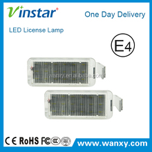 EXW price New design led car number plate light led car license plate light for Ford Falcon with E4 E-mark Certificates