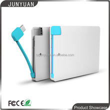Factory price, oem logo credit card power bank, slim portable phone charger