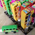 Plástico mini ônibus de brinquedo dos doces, china brinquedo doce