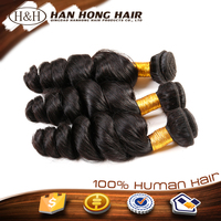unprocessed virgin human hair extension loose wave hair organic hair