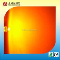 high lumens high power Amber led 5mm straw hat(CE&RoHS)