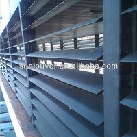 L =450mm adjustable exterior aluminum louvered shutters decorative aluminum louvered shutters