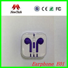 Real Original for Apple for iphone 5 Earphone with Remote and mic