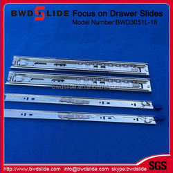 wholesale high quality&low price full extension 3-fold ball bearing drawer slides BWD3051L-18