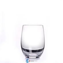 handmade plain clear thick bottom tumbler whisky drinking glass