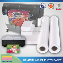 inkjet printing photo paper 180g with back adhesive
