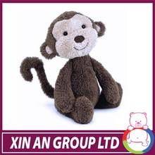 Small comfortable animal educational plush monkey for kids plush hanging monkey toys