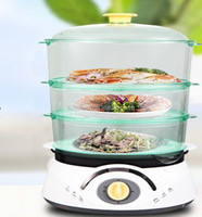 2015 hot sale electric portable food steamer with 3 layer mini electric steamer