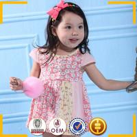 2015 New Design Lovely Girls chevron cotton baby sleeveless dress for child