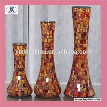 Ornamento casa de vidrio mosaico de vidrio crackle florero