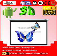 150 inch 16:9 or 4:3 Wall Mounted Motorized Projector Screen / Electric Projector Screen / Automatic Projector Screen