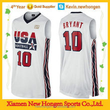 2015 new style custom basketball uniform manufacture