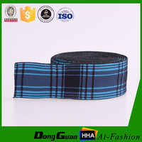 Customzied Grid Nylon Jacquard Fabric Elastic Waistband Rubber Band