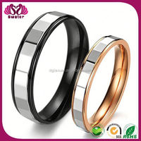 Unique hot sale Custom made black&rose gold plated Beautiful Pictures Of Rings