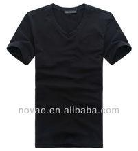 2013 new design cheap blank t-shirt/mens plain black t-shirts