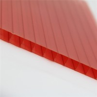 roof covering plastic two wall polycarbonate hollow sheet polycarbonate panel