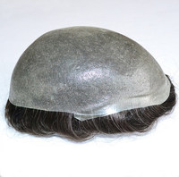 Super V Human Hair Toupee/hairpiece for men