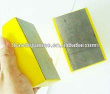 De pulido de vidrio del bloque de diamante, Uso de la mano