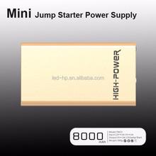 12V 8000mAh Golden car Emergency tool kit fast charging power bank