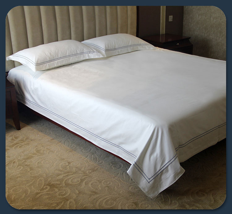 Elegant 250tc Single Bed Hotel Bed Flat Sheet/250tc White Queen Bed Hotel ...