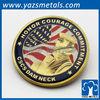 Custom made metal military souvenir gold coins