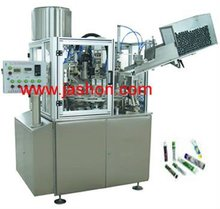2015 china Hot selling plastic table top bottle manual tube filling and sealing machine