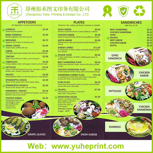A4 Hotel Custom Top Grade Restaurant Supplies Menu Cover Buy