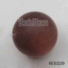 20mm coffee round frosted jewelry resin beads