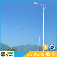 Discount Double arm price per watt solar panels in india CE Rohs IP65 battery on pole