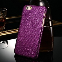 For Apple brand jewelry shining hard PC back for Iphone 4.7 inch fancy glitter smart case