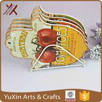 ceramic hot pad coaster high quality trivet for kitchen hand shape hot shape
