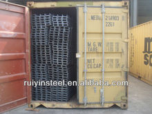 SS400 /Q235 Hot Rolled U Channel for Building structure