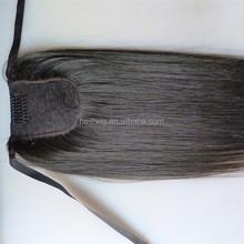 human hair drawstring ponytail Human hair color wrap around human hair ponytail