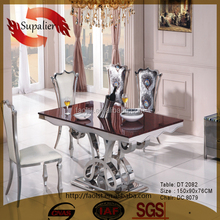 Compititive price high quality marble top dining table set designs in india dining table marble