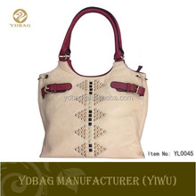 Fashion design female handbag with rivet