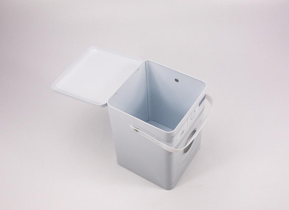Lave linge en forme lavage poudre contenant de l 39 tain bo te de rangement en m tal caisses d - Produit pour nettoyer l etain ...