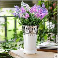 Jingdezhen decorative fashion silver ceramics vases for home deco