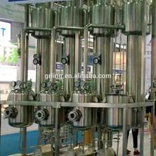 Pequeña capacidad multi efecto four efecto falling película evaporador para jugo de concentración