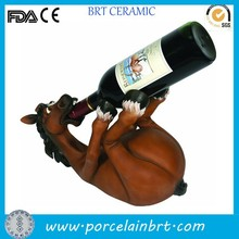 Brown horse shaped decorative table Resin Craft