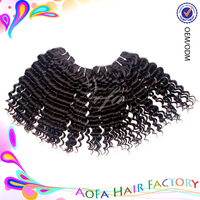 100% natural indian deep weave wholesale pure indian remy virgin human hair weft