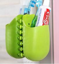 Silicone wall sucker bathroom storage holder