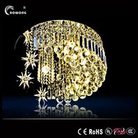 modern chandelier rain drop lighting crystal ball fixture pendant ceiling lamp,5 lights hot sell moon star chandelier light