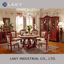 868 Royal marble round dining set with five legs